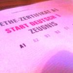 Как выглядит сертификат немецкого языка Start Deutsch А1 и В1 DTZ, сертификат Orientierungstest Leben in Deutschland?
