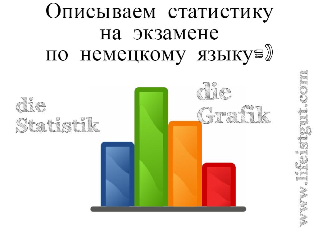 Как описать статистику по-немецки на экзамене Zertifikat B2 + Beruf