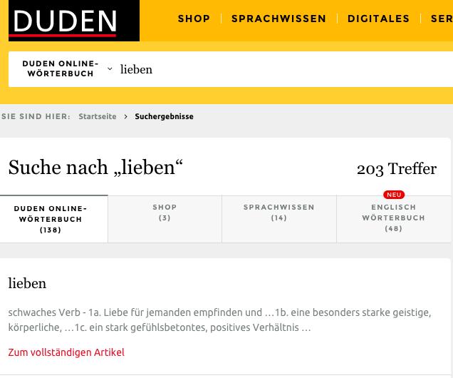 duden немецкий онлайн словарь