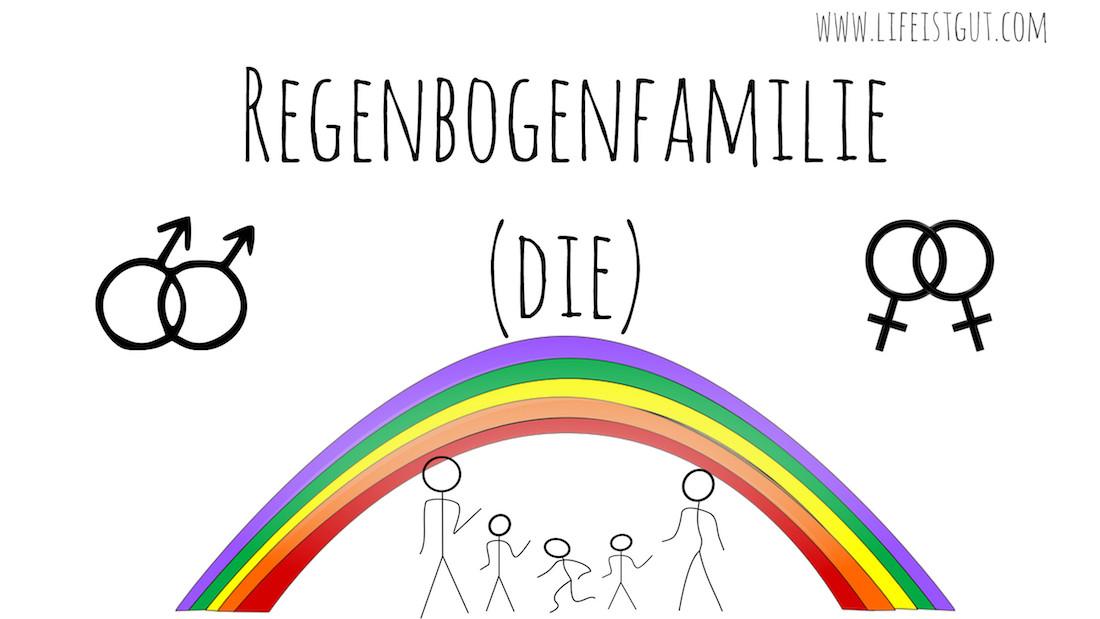 В немецком языке есть действительно смешные слова Regenbogenfamilie