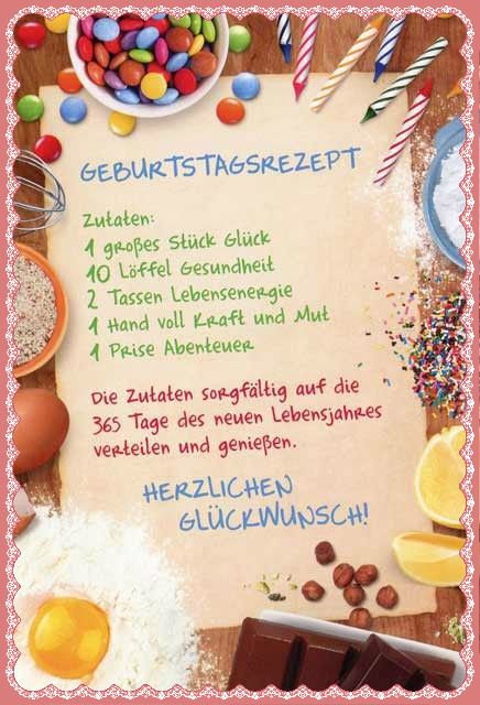 интересные немецкие поздравления с днем рождения