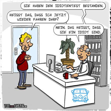 Идиотентест. Idiotentest. Медицинско-психологическая экспертиза в Германии при нарушении ПДД - тест для Идиотов???