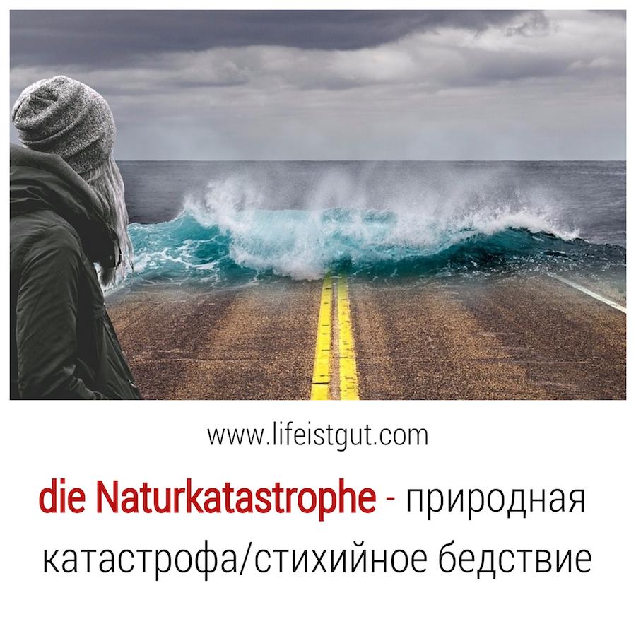 Тема природа на немецком: Natur und Umwelt. Wortschatz. Naturkatastrophe