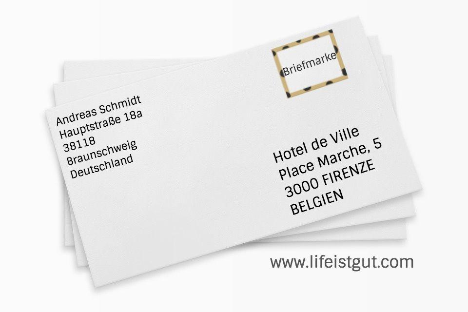 Как подписать конверт для немецкого письма за границу?