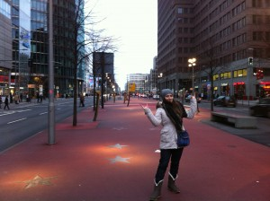 Аллея славы (Бульвар Звезд) в Берлине.