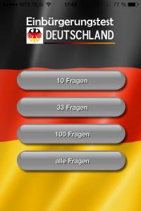 """Orientierungstest """"Leben in Deutschland"""" oder Einbürgerungstest"""