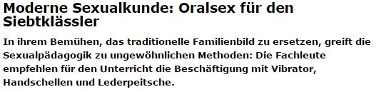 Половое воспитание в Германии