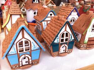 Немецкое Рождество , немецкие глиняные домики ручной работы