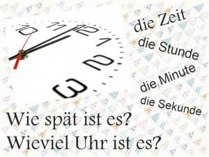 Немецкий язык Тема Время