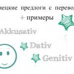 Немецкие предлоги с переводом: в Akkusativ, Dativ, Genitiv
