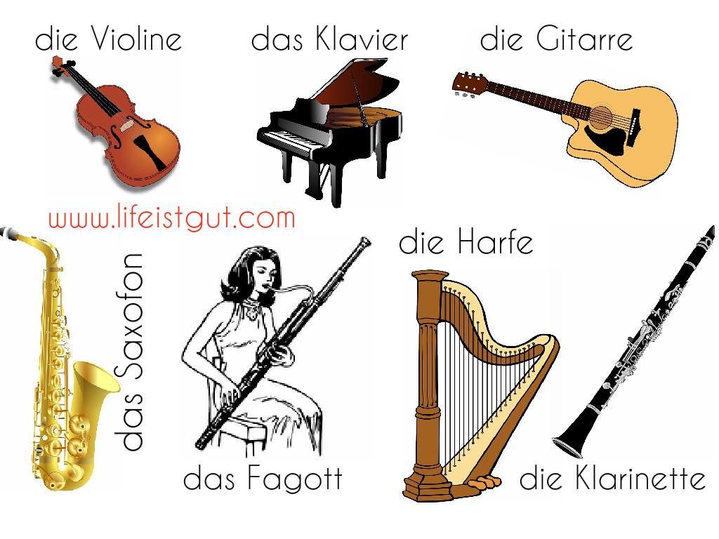 музыкальные инструменты учим по-немецки