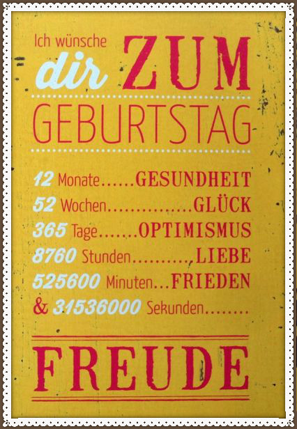 поздравить с днем рождения по немецки